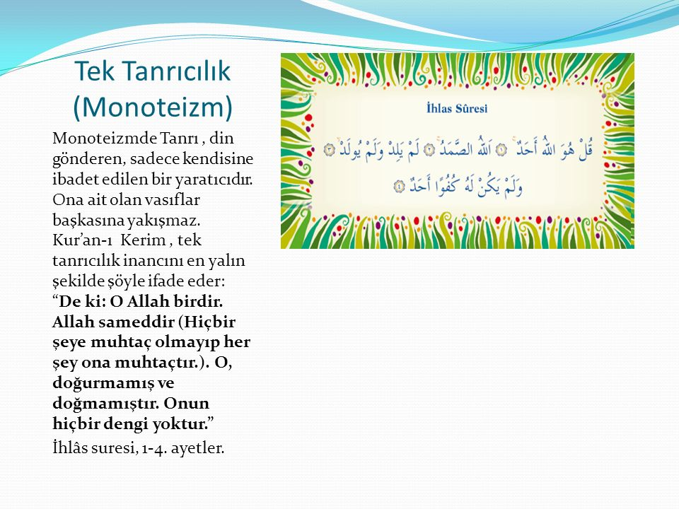 Tek Tanrıcılık (Monoteizm)