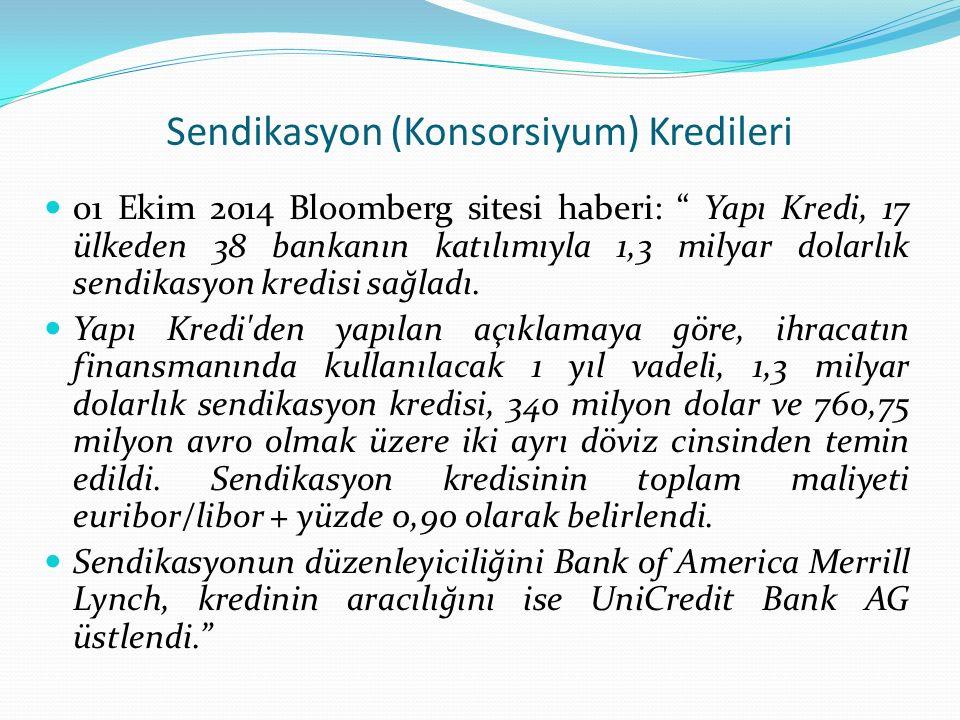 Sendikasyon (Konsorsiyum) Kredileri