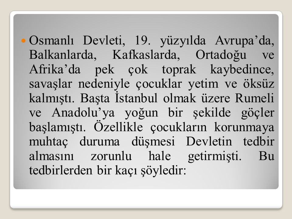 Osmanlı Devleti, 19.