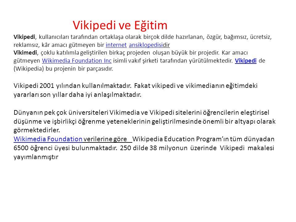 Vikipedi ve Eğitim