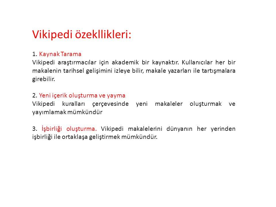 Vikipedi özekllikleri: