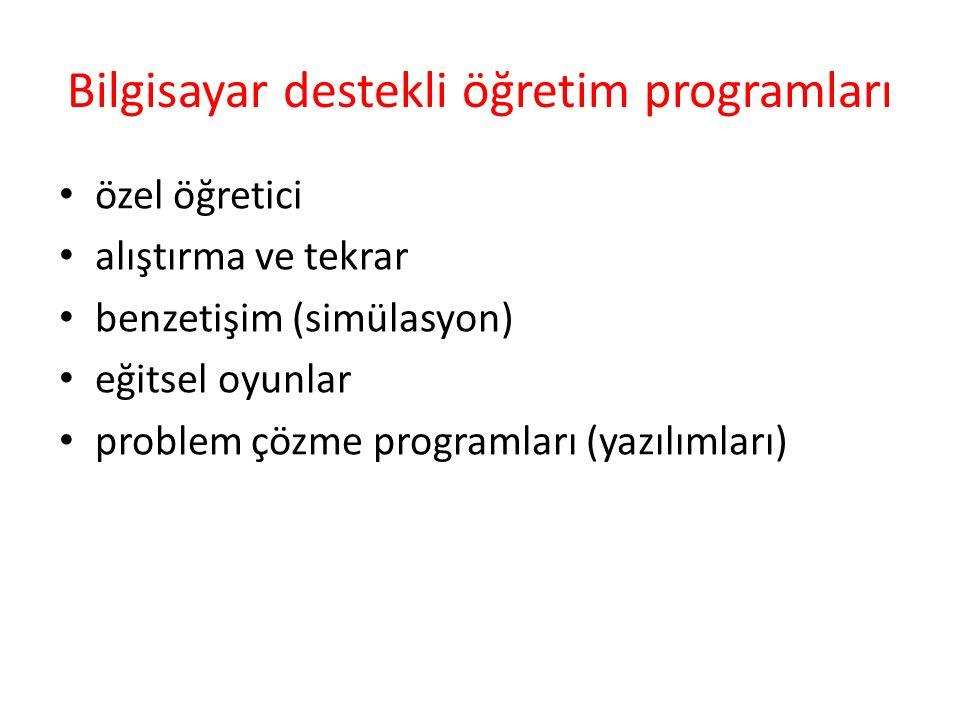Bilgisayar destekli öğretim programları