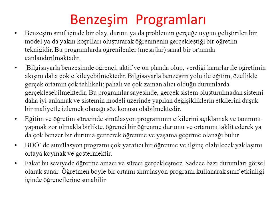 Benzeşim Programları