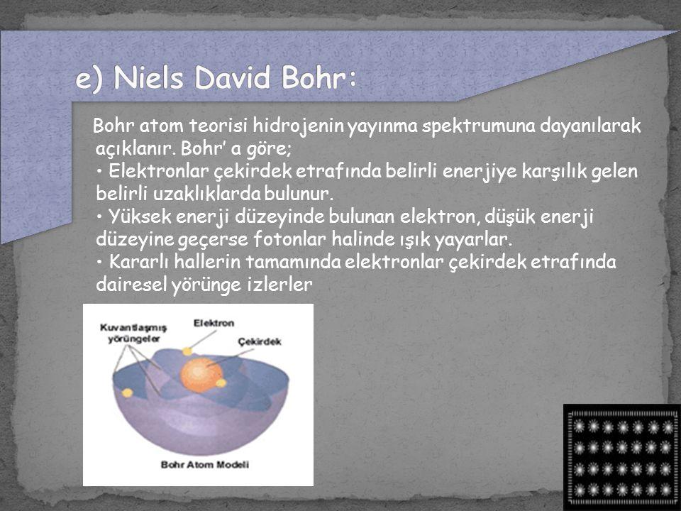 e) Niels David Bohr: