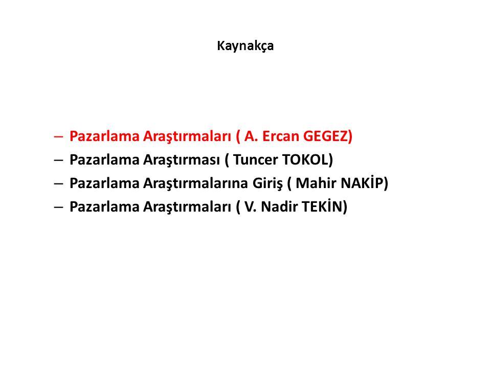 Pazarlama Araştırmaları ( A. Ercan GEGEZ)