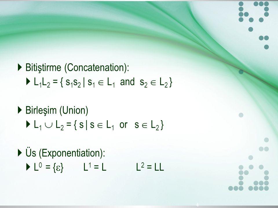 Bitiştirme (Concatenation):