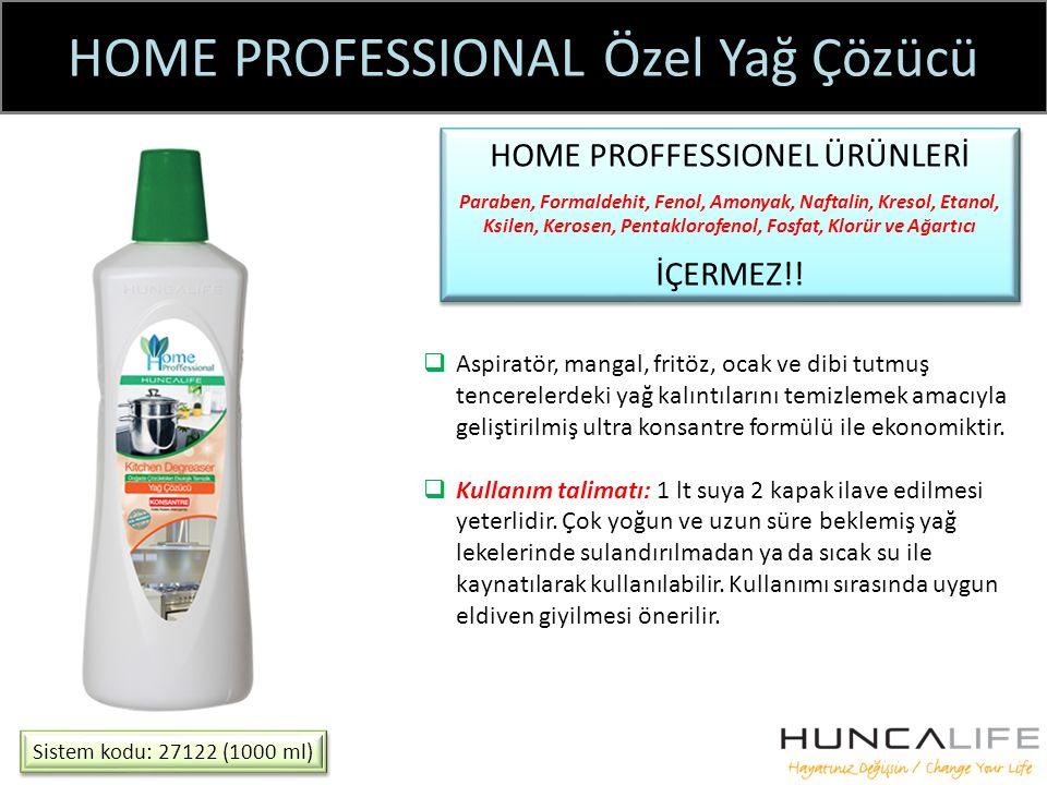 HOME PROFESSIONAL Özel Yağ Çözücü