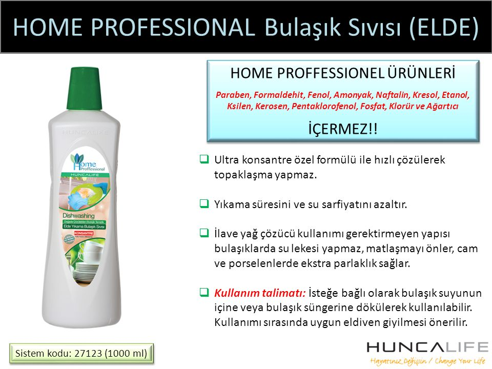 HOME PROFESSIONAL Bulaşık Sıvısı (ELDE)