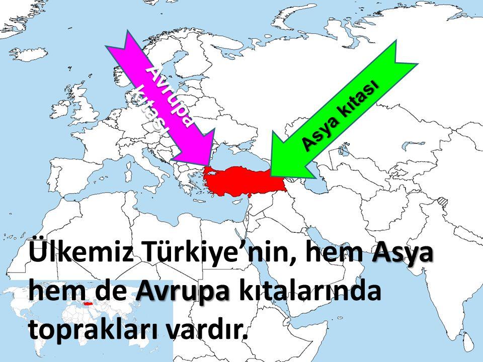 Avrupa kıtası Asya kıtası.