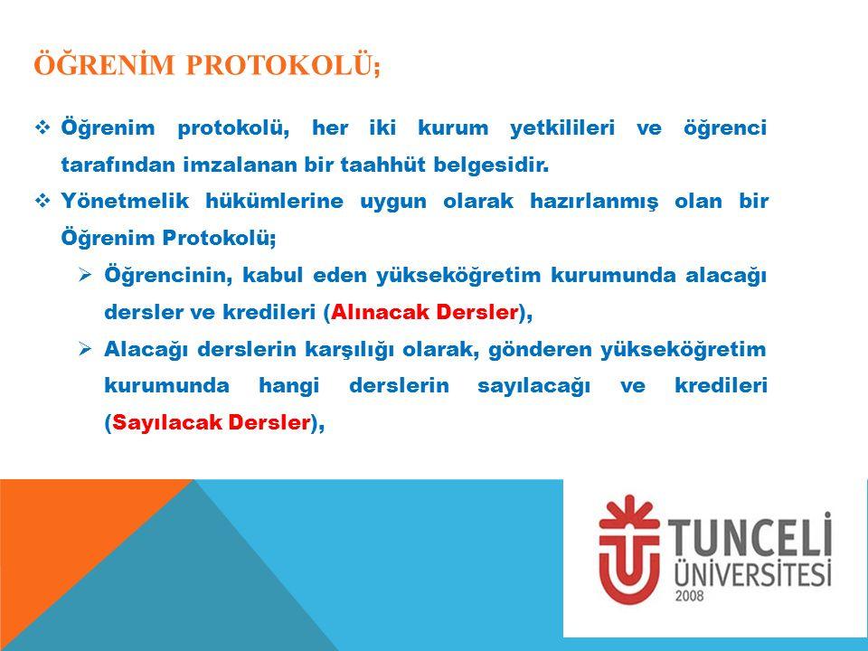 ÖĞRENİM PROTOKOLÜ; Öğrenim protokolü, her iki kurum yetkilileri ve öğrenci tarafından imzalanan bir taahhüt belgesidir.