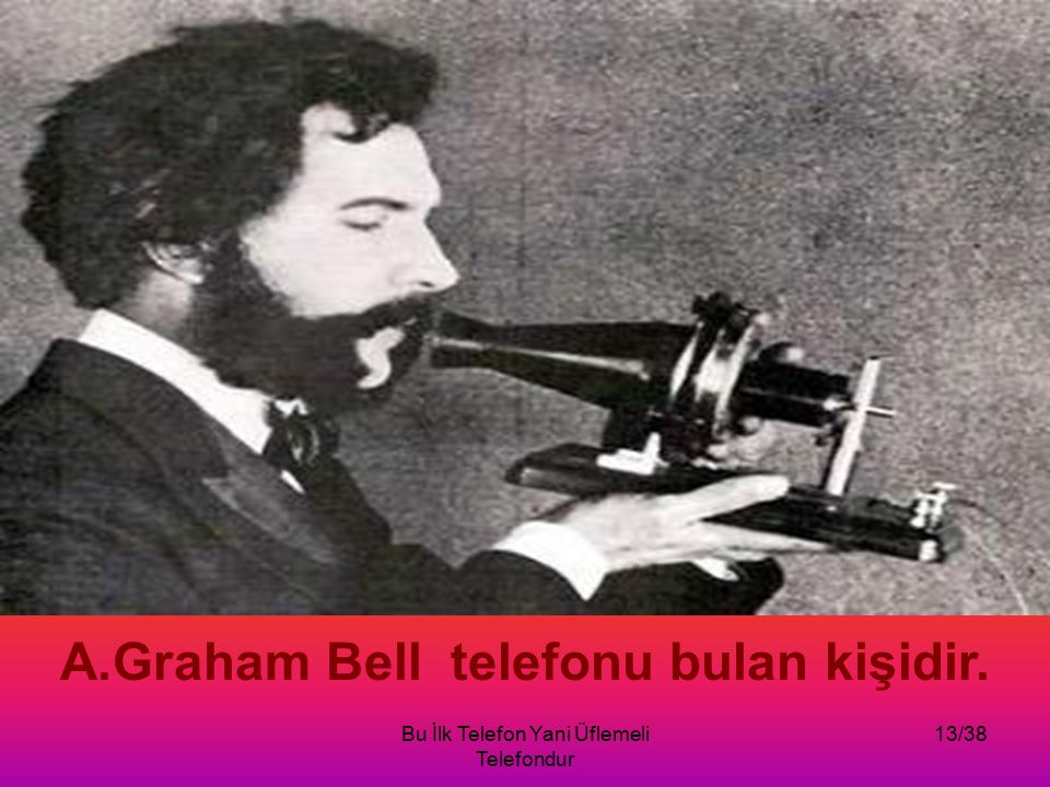 Graham Bell telefonu bulan kişidir.