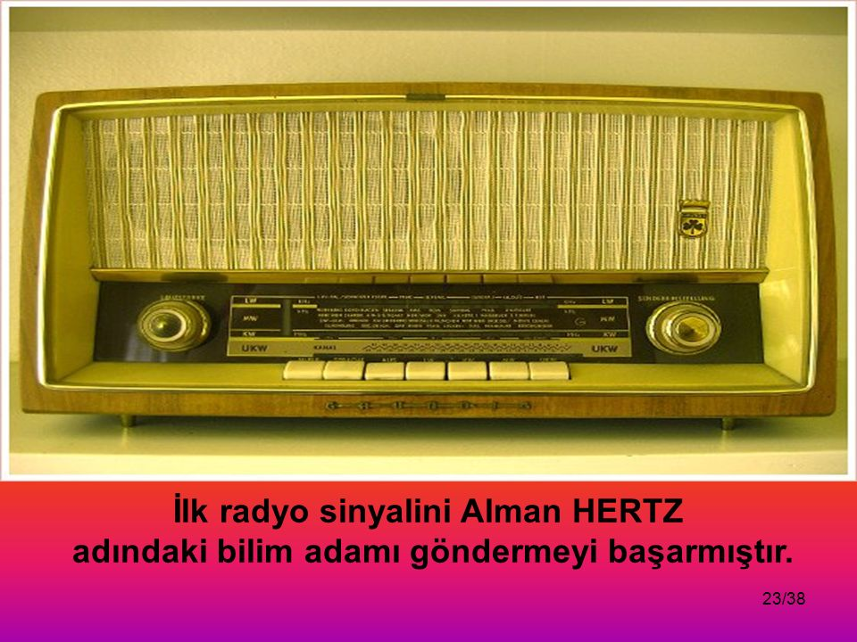 İlk radyo sinyalini Alman HERTZ