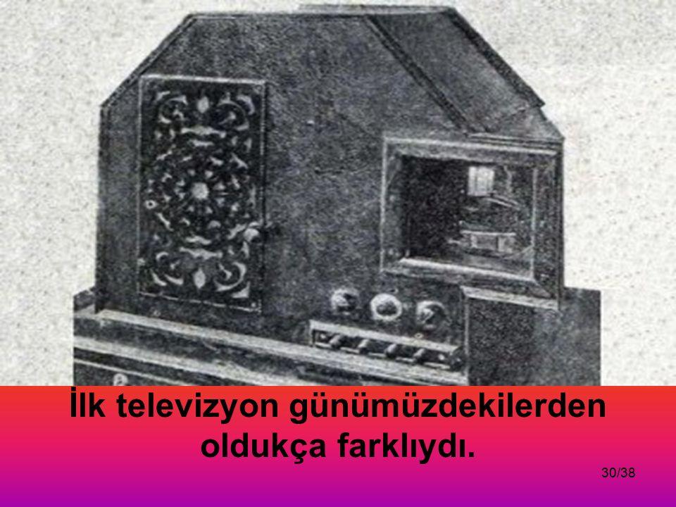 İlk televizyon günümüzdekilerden