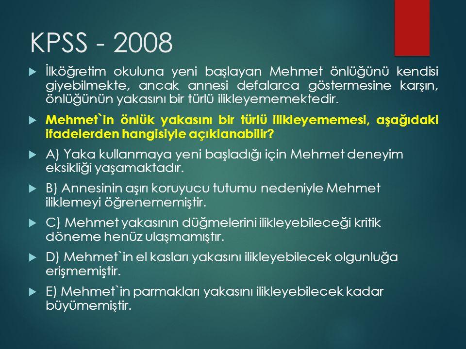 KPSS - 2008