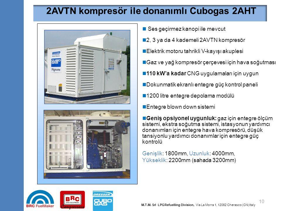 2BVTN kompresör ile donanımlı Cubogas 2BDB