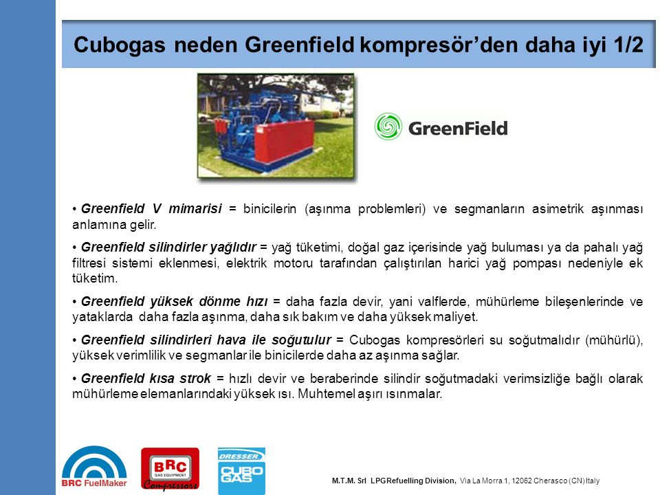 Cubogas neden Greenfield kompresör'den daha iyi 2/2