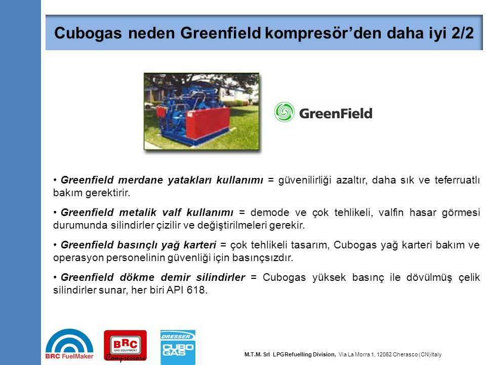 Cubogas neden Greenfield ambalajından daha iyi