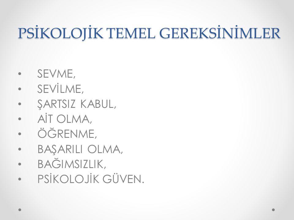PSİKOLOJİK TEMEL GEREKSİNİMLER