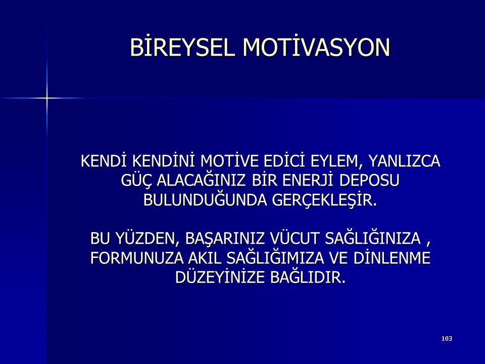 BİREYSEL MOTİVASYON