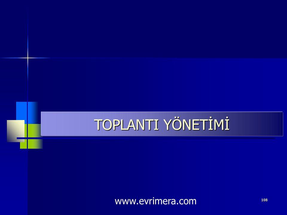 TOPLANTI YÖNETİMİ www.evrimera.com