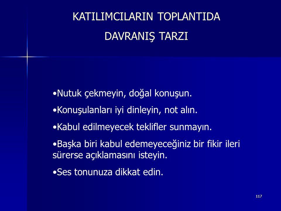 KATILIMCILARIN TOPLANTIDA