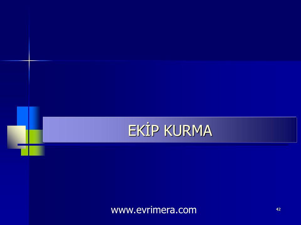 EKİP KURMA www.evrimera.com