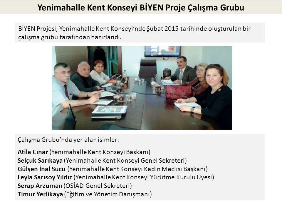 Yenimahalle Kent Konseyi BİYEN Proje Çalışma Grubu