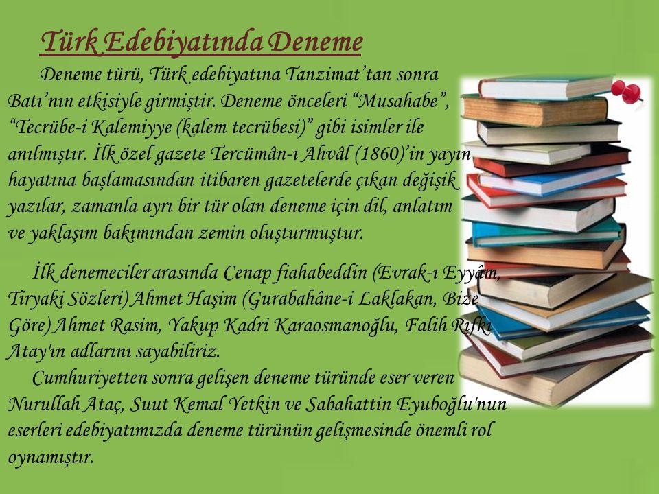 Türk Edebiyatında Deneme