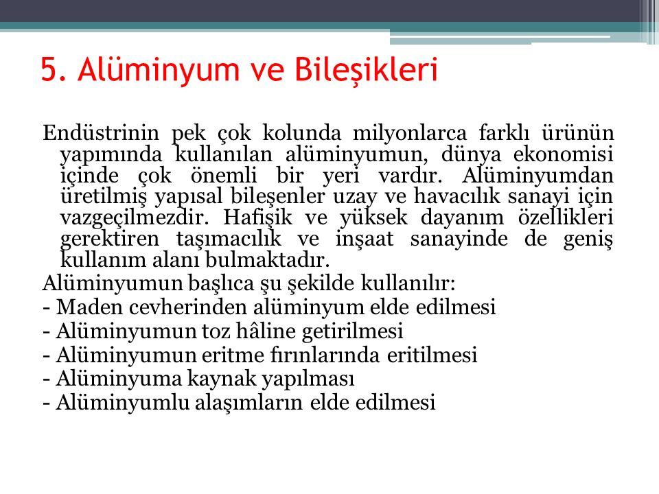 5. Alüminyum ve Bileşikleri