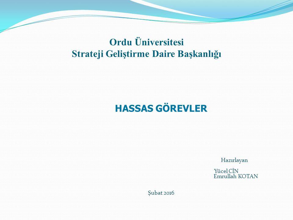 Ordu Üniversitesi Strateji Geliştirme Daire Başkanlığı