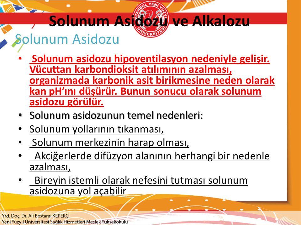 Solunum Asidozu ve Alkalozu