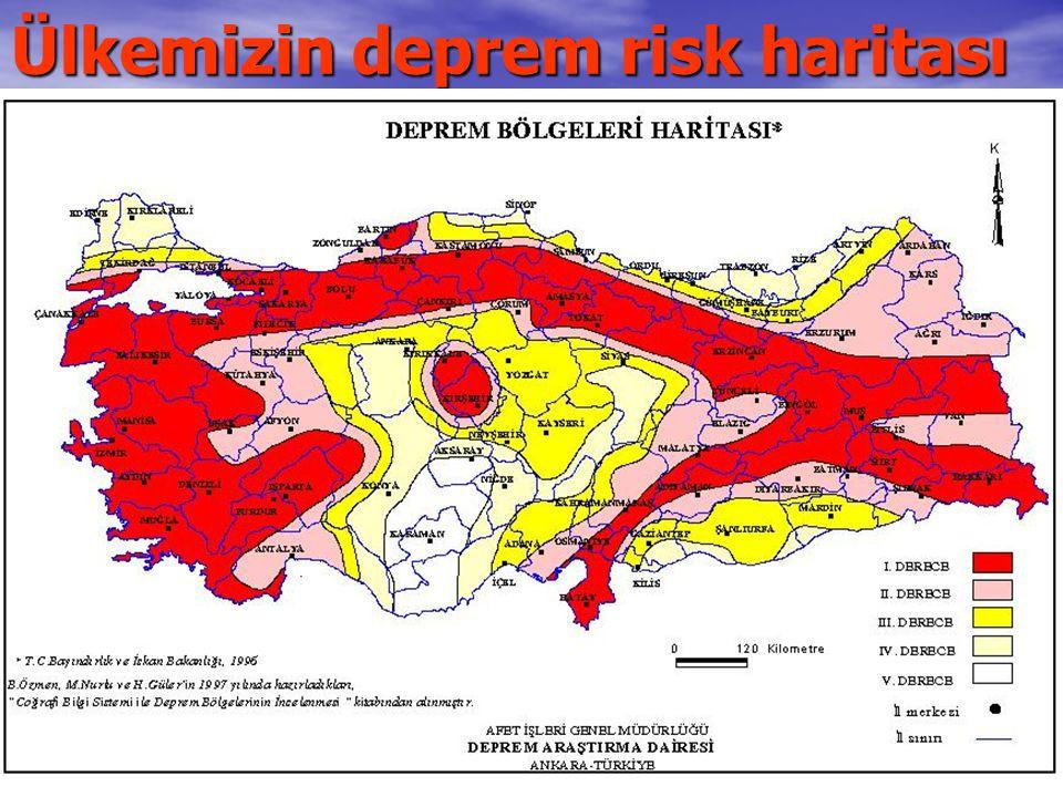 Ülkemizin deprem risk haritası