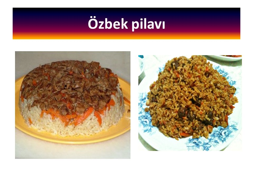 Özbek pilavı
