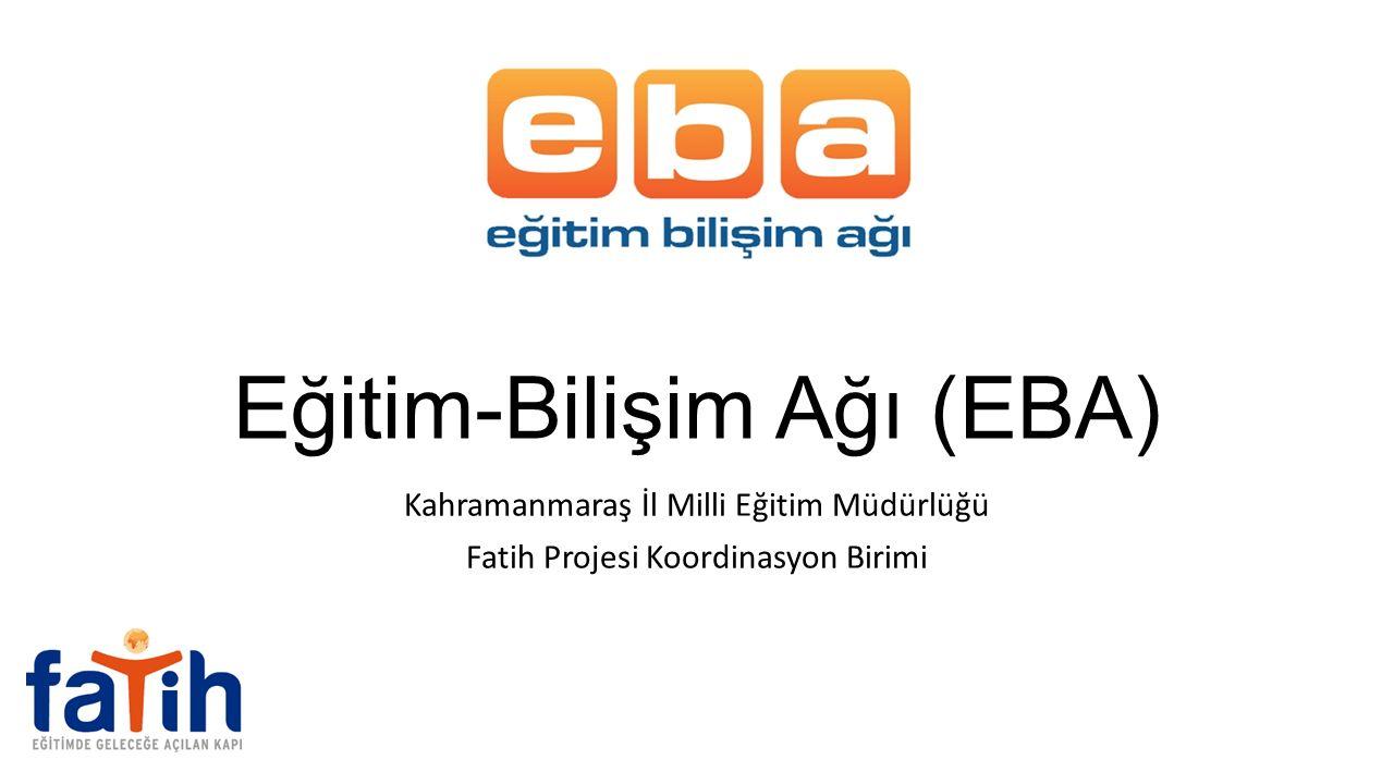 Eğitim-Bilişim Ağı (EBA)