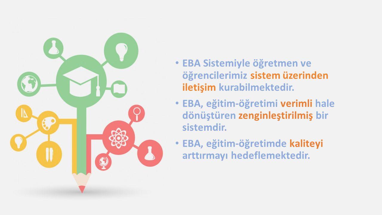 EBA Sistemiyle öğretmen ve öğrencilerimiz sistem üzerinden iletişim kurabilmektedir.