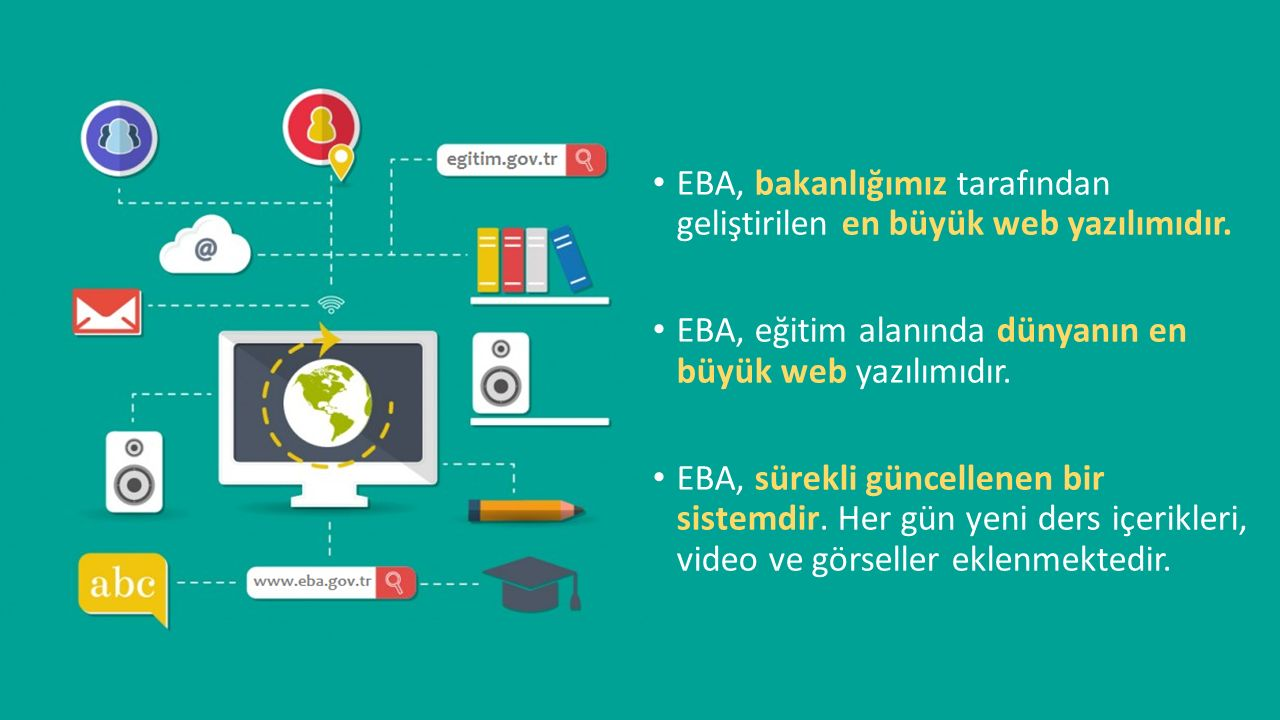 EBA, bakanlığımız tarafından geliştirilen en büyük web yazılımıdır.