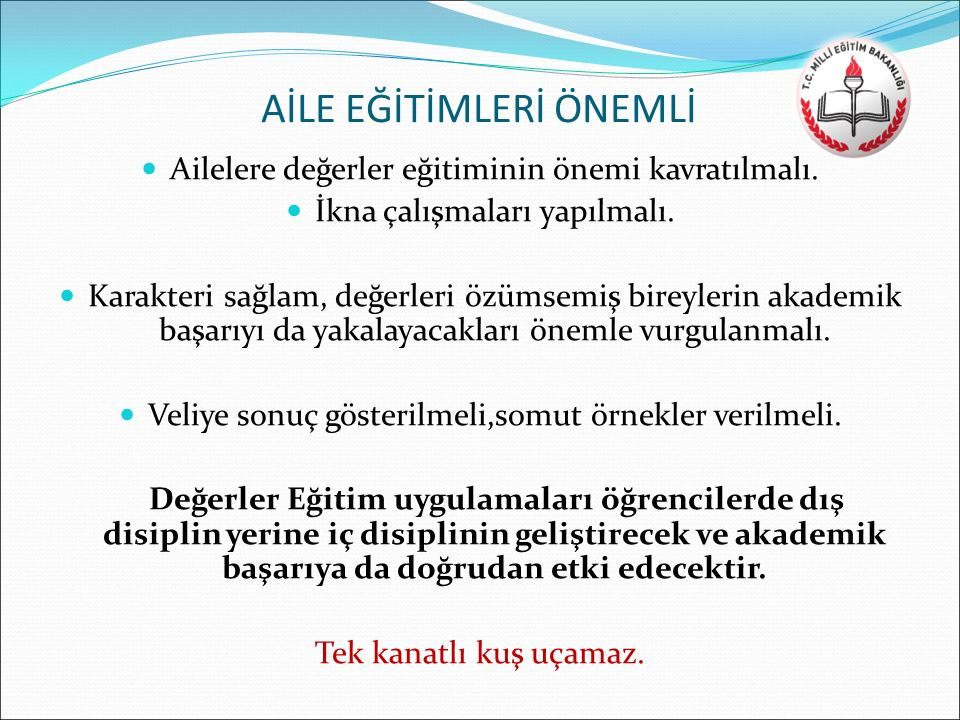 AİLE EĞİTİMLERİ ÖNEMLİ