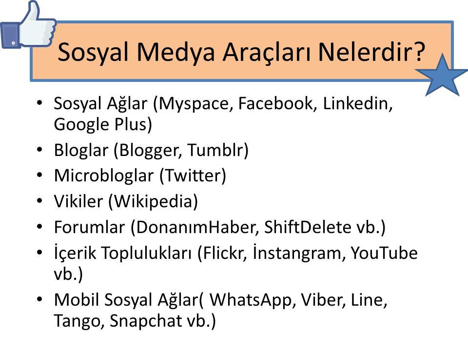 Sosyal Medya Araçları Nelerdir