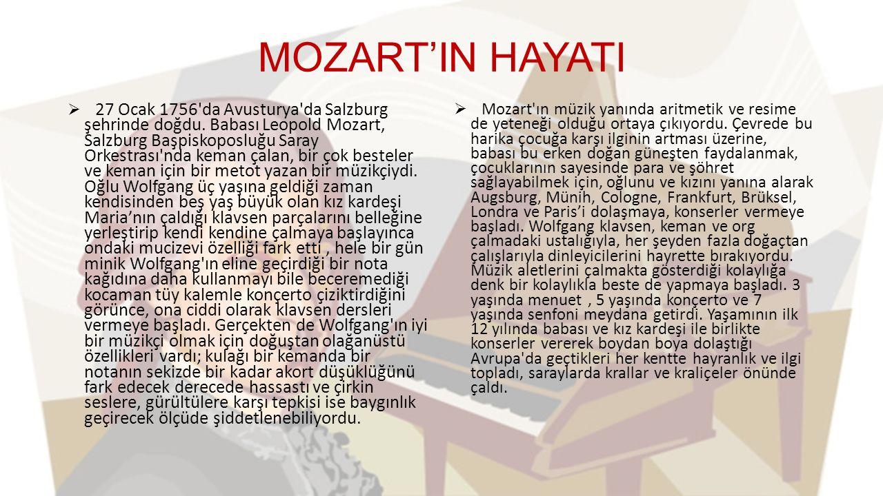 MOZART'IN HAYATI