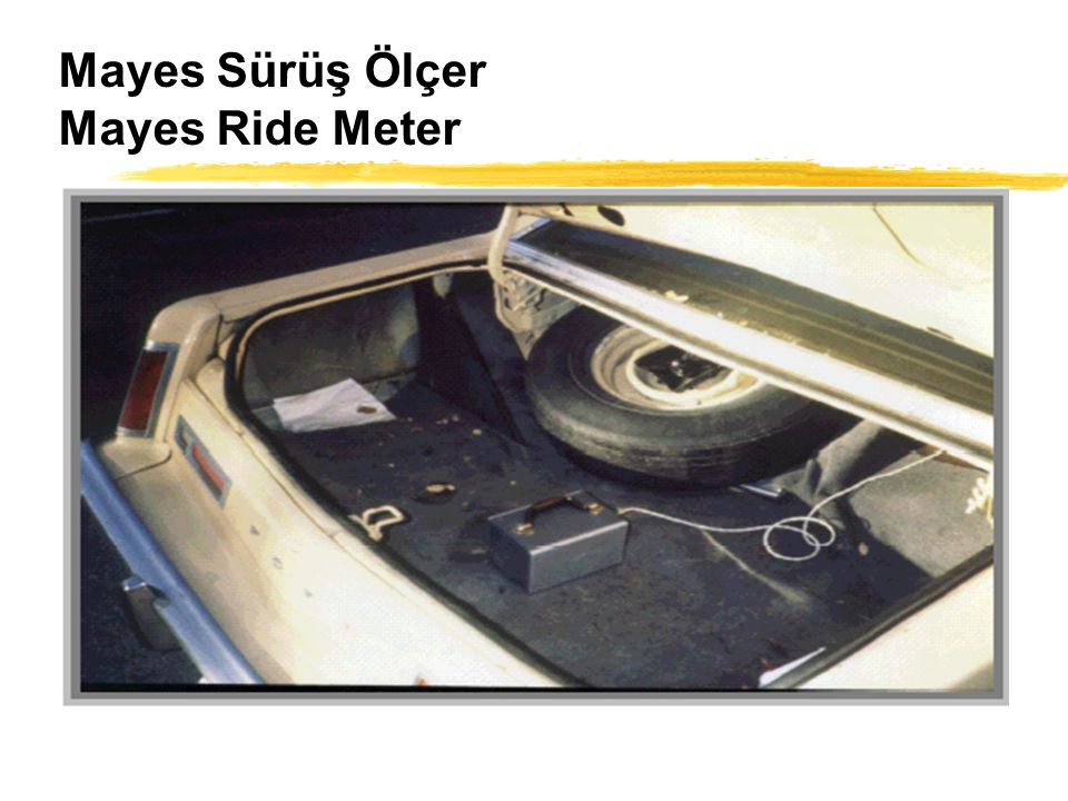Mayes Sürüş Ölçer Mayes Ride Meter