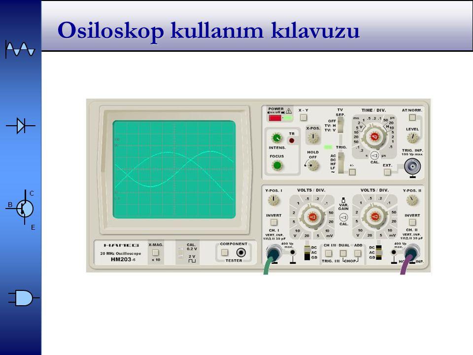 Osiloskop kullanım kılavuzu