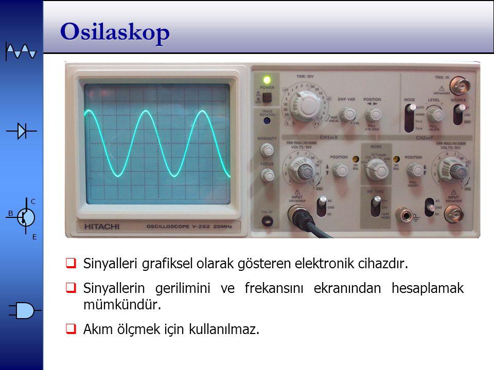 Osilaskop Sinyalleri grafiksel olarak gösteren elektronik cihazdır.