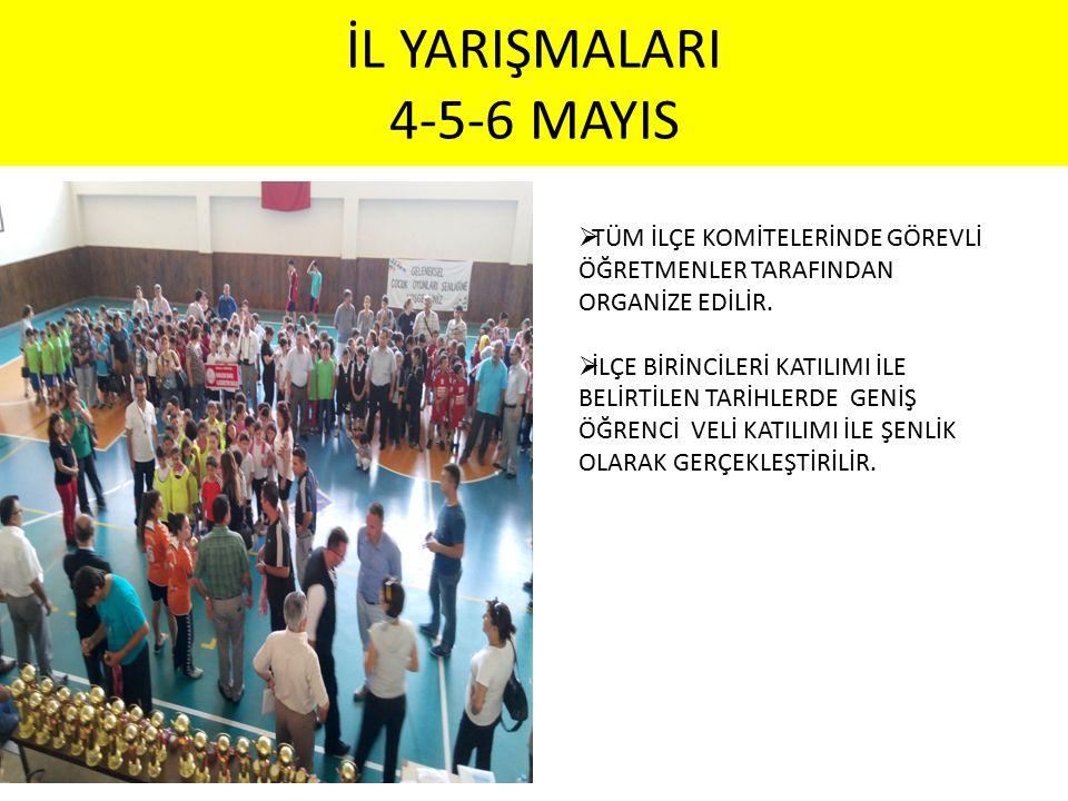 İL YARIŞMALARI 4-5-6 MAYIS