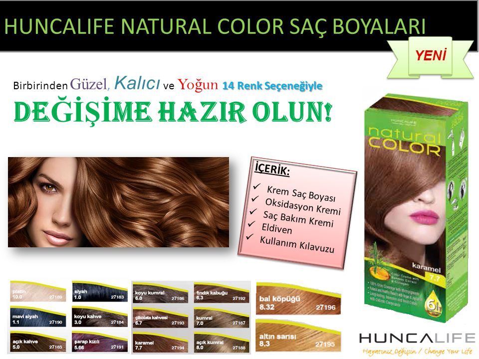 HUNCALIFE NATURAL COLOR SAÇ BOYALARI