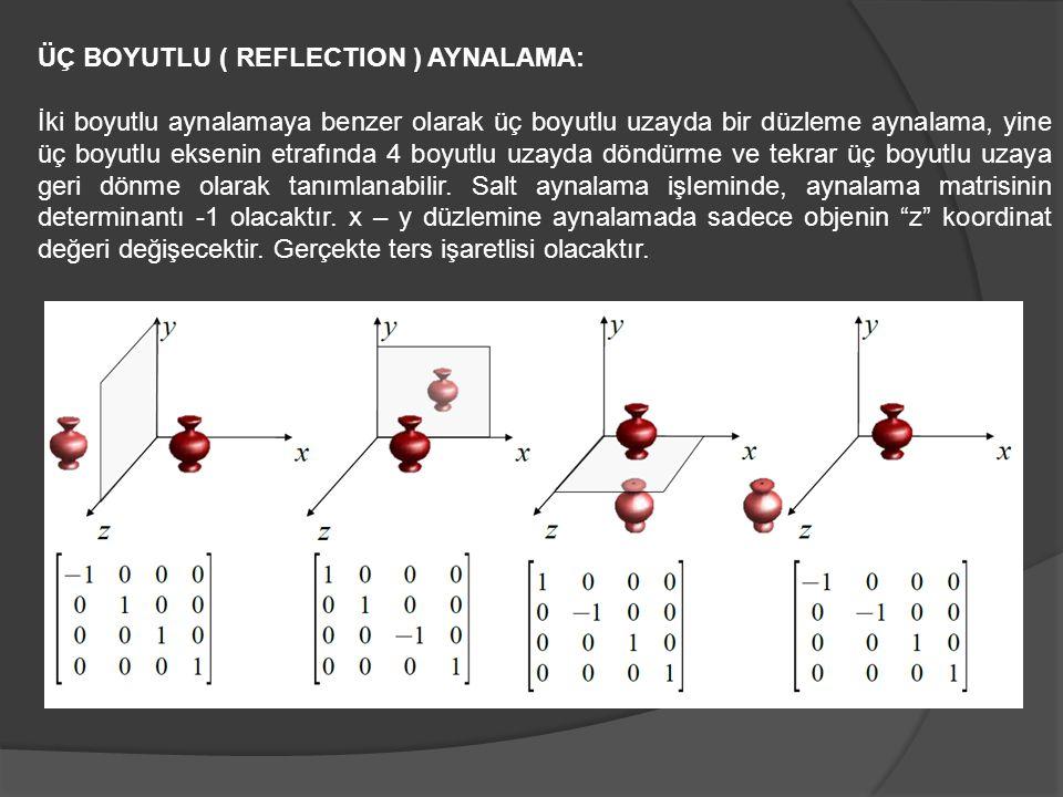 ÜÇ BOYUTLU ( REFLECTION ) AYNALAMA: