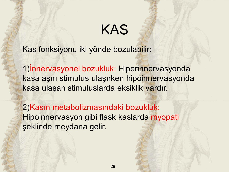 KAS Kas fonksiyonu iki yönde bozulabilir: