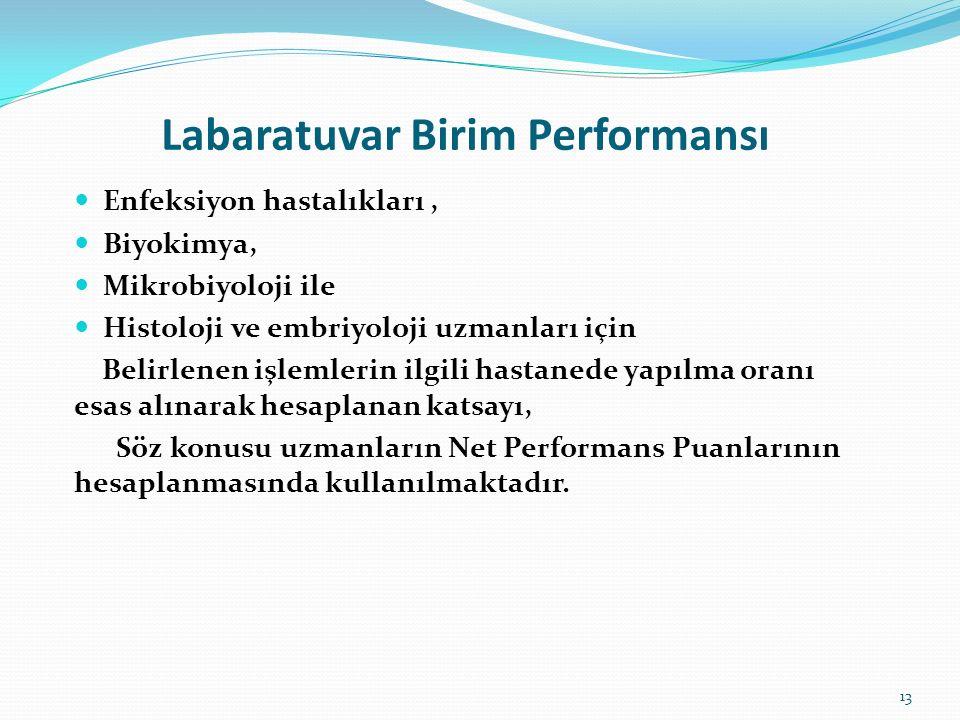 Labaratuvar Birim Performansı