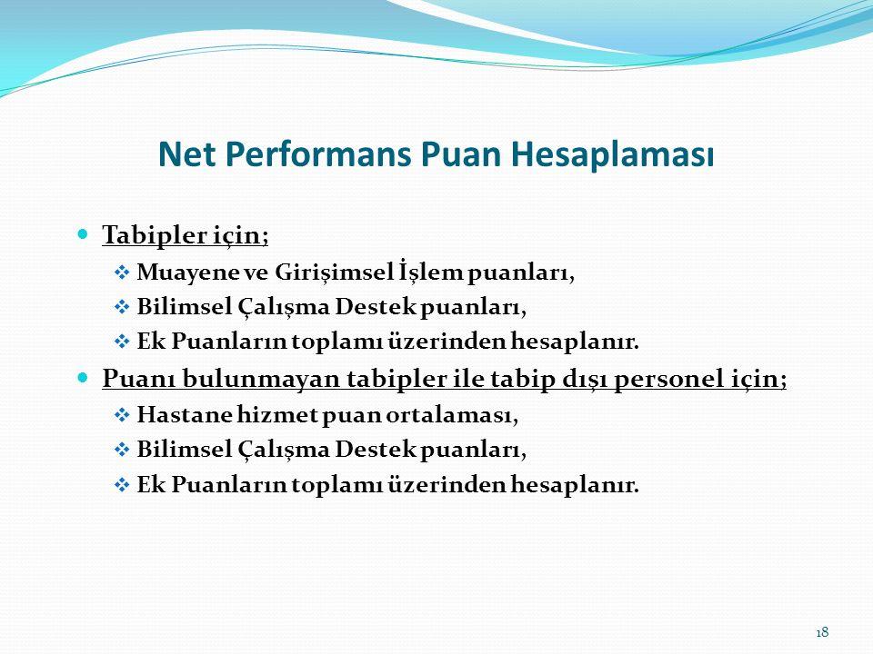 Net Performans Puan Hesaplaması