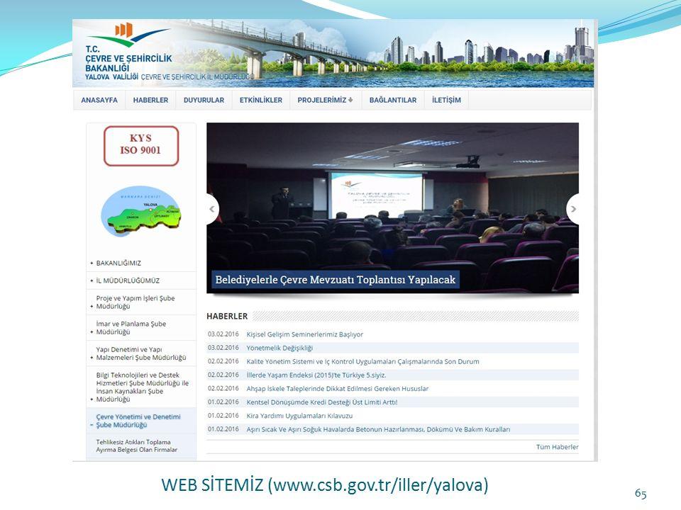 WEB SİTEMİZ (www.csb.gov.tr/iller/yalova)