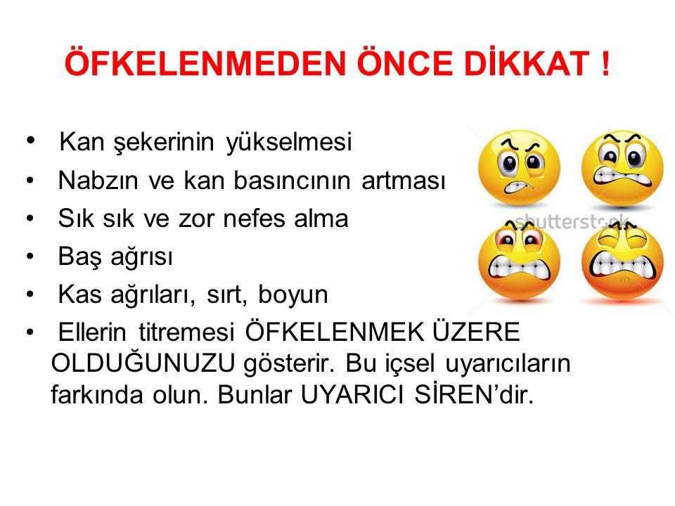 ÖFKELENMEDEN ÖNCE DİKKAT !